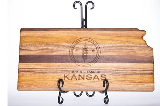 From the Land of Kansas Cutting Board