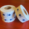 """Small Full white 3/4 """" Circle with Full Color Logo"""